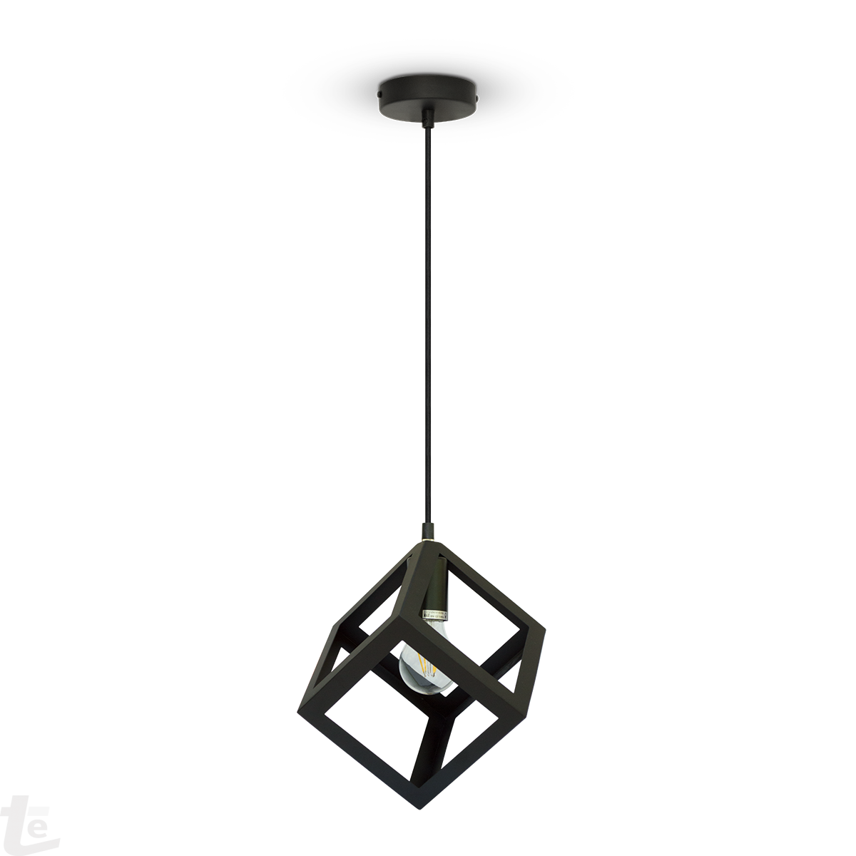 pendant cage product geometric copper shade with wire large