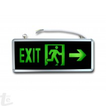 LED EXIT plate right arrow