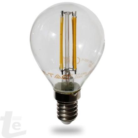 LED Крушка - 4W Нажежаема E14 P45 Топло Бяла