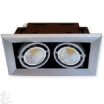 LED COB Луна за Вграждане 2x10W 6000К