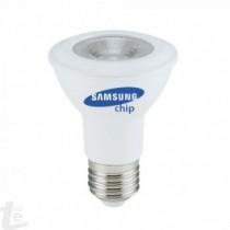 LED Крушка - SAMSUNG ЧИП 7W E27 PAR20 Бяла Светлина