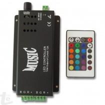 144W Музикален RGB Контролер за LED Ленти 24 бутона