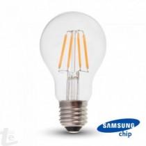 LED Крушка - SAMSUNG ЧИП Filament 6W E27 A60 2700K