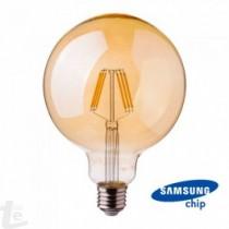LED Крушка - SAMSUNG ЧИП Filament 6W E27 Amber G125 2200K