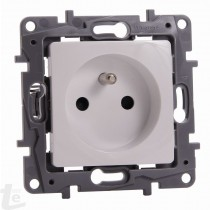 LEGRAND - 2P+E FRENCH STD SOCKET NILOÉ SPECIAL PROJECT - SCREW MOUNTING - WHITE