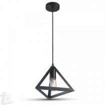 Геометричен Пендел Матово Черно Кръг 3D