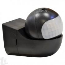 Сензор За Движение Стена Въртяща Глава Черен