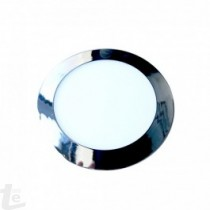 LED Панел 12W Хром Кръг бяла светлина