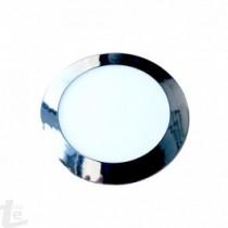 LED Панел 12W Хром Кръг Топло бяла светлина