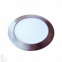 LED Панел 12W Сатен Никел Кръг бяла светлина