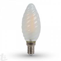 LED Крушка - 4W Нажежаема E14 Twist Свещ 4000K