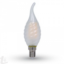 LED Крушка - 4W Нажежаема E14 Twist Свещ Tail 6400K