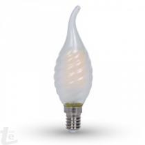 LED Крушка - 4W Нажежаема E14 Twist Свещ Tail 4000K