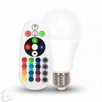 LED Крушка - 6W E27 A60 RGB с Remote Control 4000K