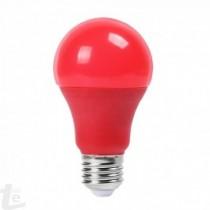 LED Крушка - 9W E27 A60 Термо Пластик Червена
