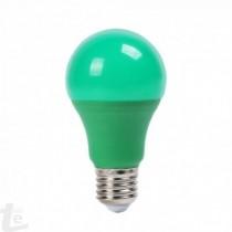 LED Крушка - 9W E27 A60 Термо Пластик Зелена