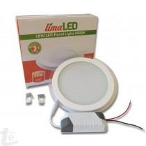 LED Панел за Вграждане  със Стъклена Периферия 18W Кръгъл 4500К