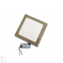 LED Панел за Вграждане  12W Квадратен Иноксов 6000К