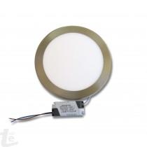 LED Панел за Вграждане  18W Кръгъл Иноксов 4500К