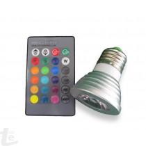 LED ЛУНИЧКА 3W RGB E27 220V с Дистанционно Управление