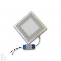 LED Панел за Вграждане  със Стъклена Периферия 12W Квадратен 4500К