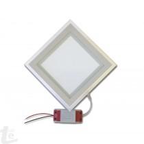 LED Панел за Вграждане  със Стъклена Периферия 18W Квадратен 4500К