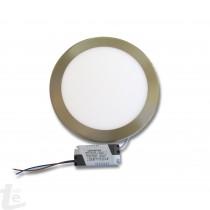 LED Панел за Вграждане  12W Кръг Иноксов 4500К