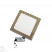 LED Панел за Вграждане  12W Квадрат Иноксов 4500К