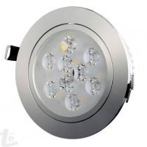 Кръгла Спот LED Луна  3000К 9W Топло Бяла Светлина