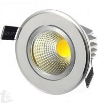 LED COB Луна с Метален Корпус 3W  6000К Студено Бяла Светлина