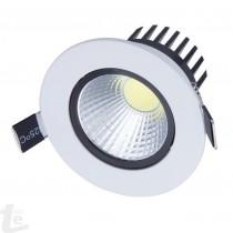 LED COB Луна със Сатенено Бял Корпус 12W  3000К Топло Бяла Светлина