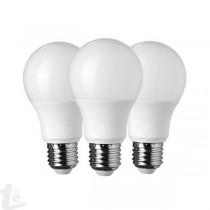 LED Пластик Крушка Пакет 3 броя 10W Е27 А60 3000K 5 Години Гаранция